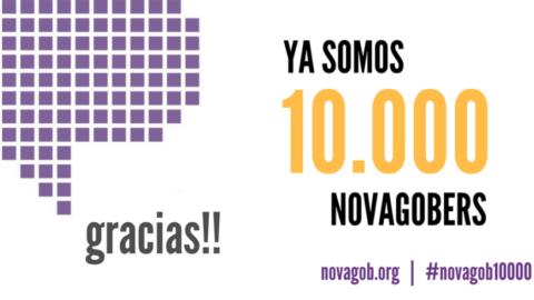 ¡Ya somos 10.000 novagobers!