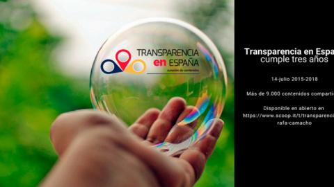 Transparencia en España cumple tres años y reúne más de 9000 contenidos.