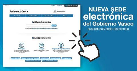 Nueva Sede electrónica del Gobierno Vasco