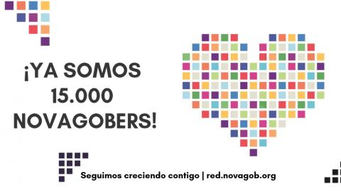 ¡Ya somos 15.000 novagobers!