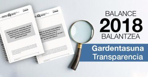 El Gobierno Vasco aprueba el Balance de transparencia 2018, en el que se consolida su modelo de transparencia online